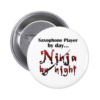 Saxophone Ninja 6 Cm Round Badge