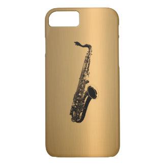 Saxophone on Bronze Copper Effect iPhone 7 Case