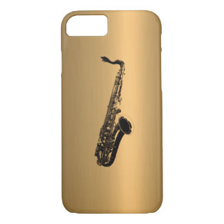 Saxophone on Bronze Copper Effect iPhone 8/7 Case