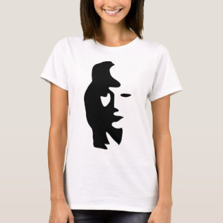 Saxophone Or Woman Optical  Illusion T-Shirt