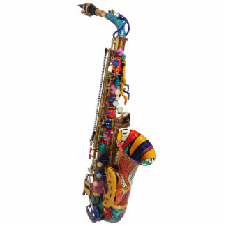 Saxophone Photo Print Color Sculpture Gift Juleez Standing Photo Sculpture