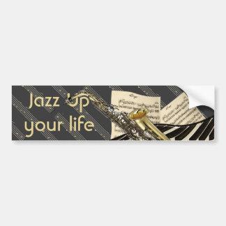 Saxophone & Piano Music Car Bumper Sticker