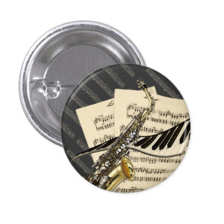 Saxophone Piano Music Buttons