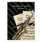 Saxophone & Piano Music Design Personalised Card