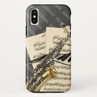 Saxophone & Piano Music iPhone X Case