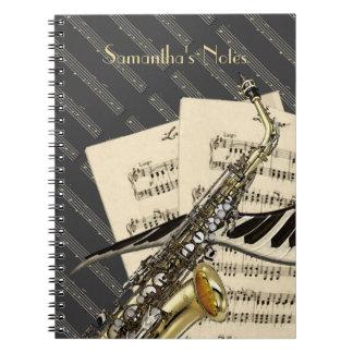 Saxophone & Piano Music Notebooks