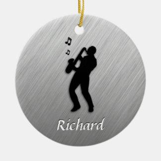 Saxophone Player Ceramic Ornament