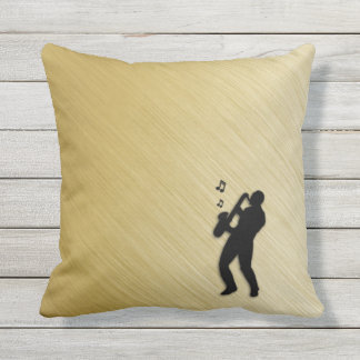 Saxophone Player Cushion