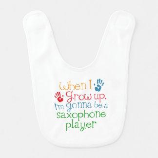 Saxophone Player (Future) Child Bib