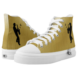 Saxophone Player High Tops