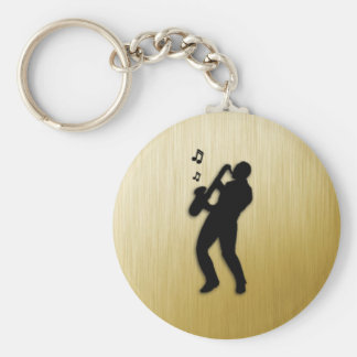 Saxophone Player Key Ring