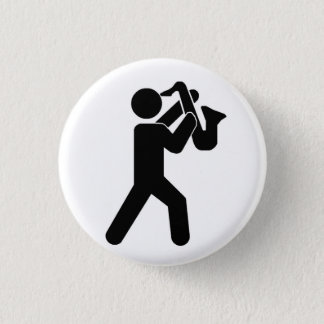 Saxophone Player Pin