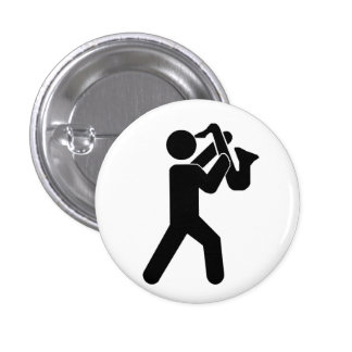 Saxophone Player Pin