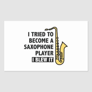 Saxophone Player Rectangular Sticker