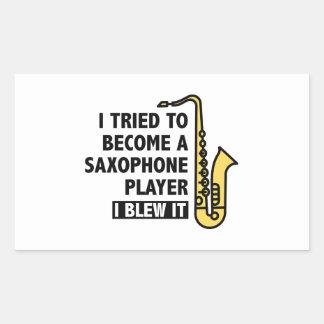 Saxophone Player Rectangular Sticker