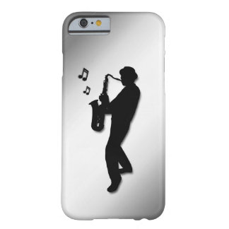 Saxophone Player Silver Barely There iPhone 6 Case