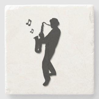 Saxophone Player Stone Coaster