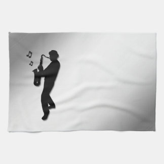 Saxophone Player Tea Towel