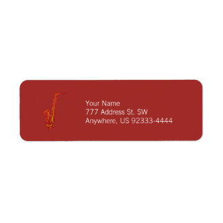 Saxophone Return Address Label