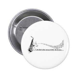 Saxophone ~ Sax Music & Blackbirds 6 Cm Round Badge