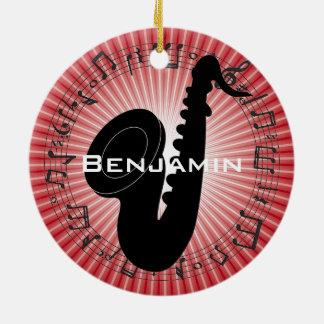 Saxophone Silhouette Design Ornament