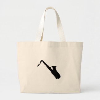 Saxophone Silhouette Large Tote Bag