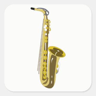 Saxophone Square Sticker