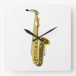 Saxophone Square Wall Clock