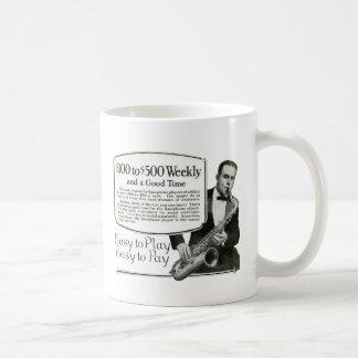Saxophone Vintage Ad Coffee Mug