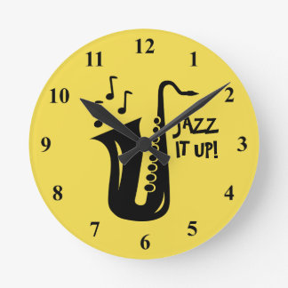 Saxophone wall clock for home, jazz club or office