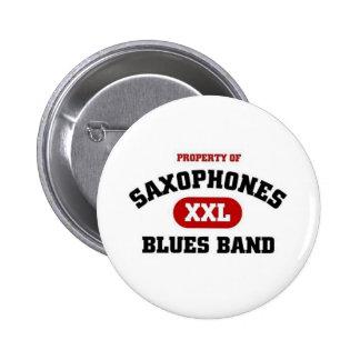 Saxophones Blues band Pinback Buttons