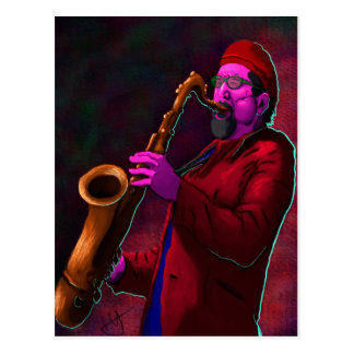 Saxophonist Postcard