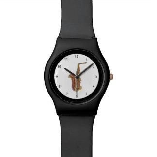 Saxphone cartoon Watch