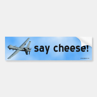 say cheese! bumper sticker
