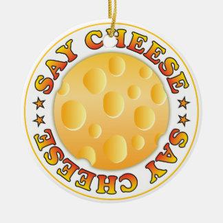 Say Cheese Ceramic Ornament
