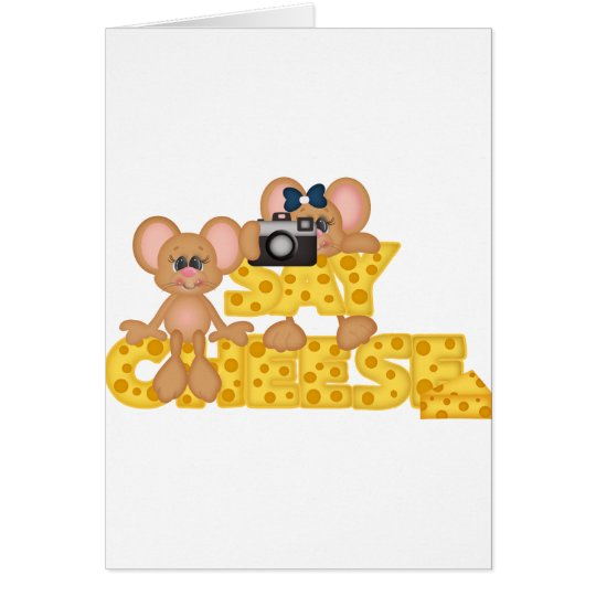 Say Cheese Mouse Card