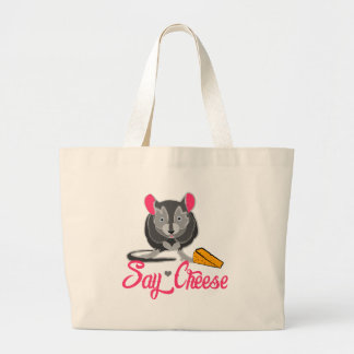 Say Cheese Mouse Large Tote Bag