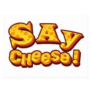 say cheese! postcard