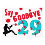 Say Goodbye To 29 A 30th Birthday Celebration Invitations