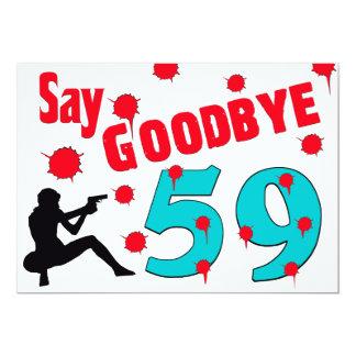 Say Goodbye To 59 A 60th Birthday Celebration Card