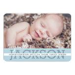 Say Hello Baby Boy Photo Birth Announcement 13 Cm X 18 Cm Invitation Card