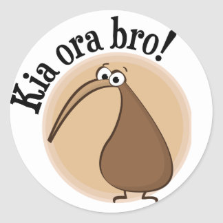 Say Hello in Kiwi Classic Round Sticker