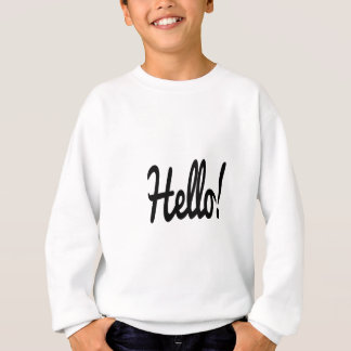 say-hello sweatshirt