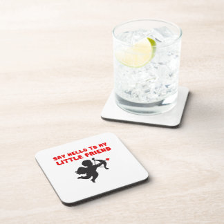 Say Hello To My Little Friend Valentine's Day Coaster