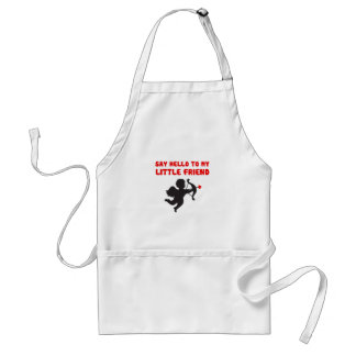Say Hello To My Little Friend Valentine's Day Standard Apron