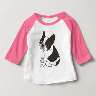 Say hello to the cute double hooded pied Frenchie Baby T-Shirt