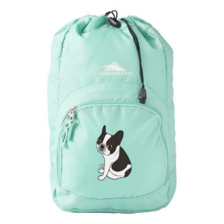 Say hello to the cute double hooded pied Frenchie Backpack
