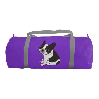 Say hello to the cute double hooded pied Frenchie Gym Bag