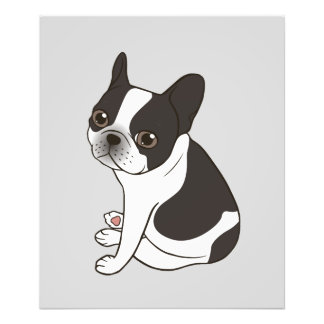Say hello to the cute double hooded pied Frenchie Photo Print
