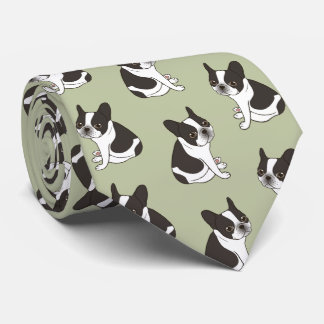 Say hello to the cute double hooded pied Frenchie Tie